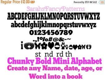 Sale Sale Sale Chunky Bold Mini Alphabet - Book folding PATTERN