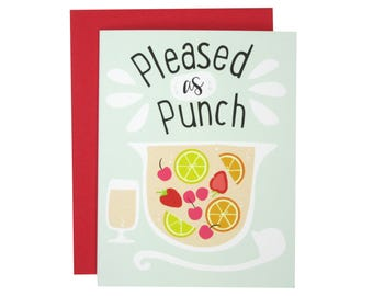 Pleased As Punch Thank You Card | Illustrated Greeting Card | Folk and Fauna Co.