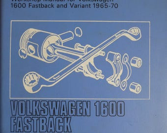 Volkswagen 1600 Fastback 1965-70 Autobook Workshop Manual