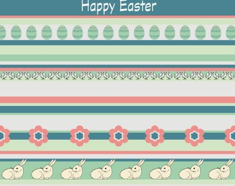 Easter words stripes fancy digital background 12x12 for crafters, scrapbookers, card makers and creatives everywhere