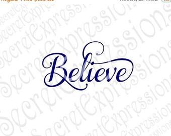 Believe svg, Believe Sign Svg, Christmas Svg, Religious Svg, Svg File Digital Cutting File, DXF JPEG, SVG Cricut, svg Silhouette, Print Fil