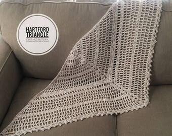 Hartford Triangle Crochet Pattern   Scarf Pattern   Shawl Pattern   Crochet Shawl Pattern   Crochet Scarf Pattern