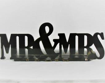 Heavy Metal Mr & Mrs Sign, wedding gift, steampunk reception, cowboy reception, rustic wedding, western wedding, wedding gift, mr and mrs