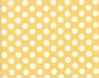 1 Yard Farmers Daughter by By Vanessa Goertzen of Lella Boutique for Moda- 5055-14 Shabby Dot Sunshine