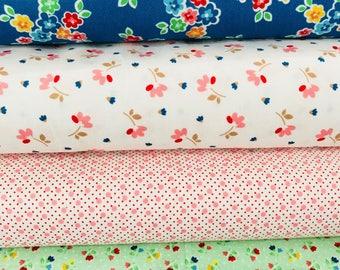 SALE!! Fat Quarter Bundle Arbor Blossoms by Ellis and Higgs Nadra Ridgeway for Riley Blake Designs -4 Fabrics