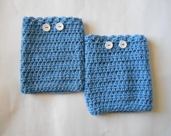 Boot Cuffs in Blue