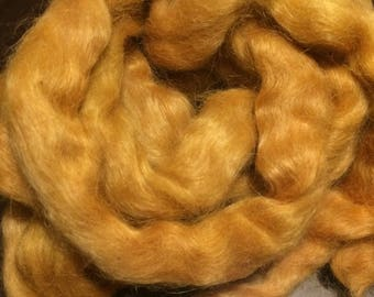 Copper Sunbeam Roving 50gm (vegetable dyed) for Blending, Spinning or Weaving