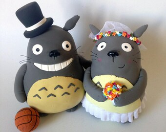Totoro Wedding Cake Topper Ghibli Studio Doll