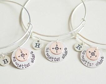Friendship Bracelet for 5, 5 best friend bracelet, 5 way friendship bangle, best friend bracelet for 5, Five person, Five way, Sister