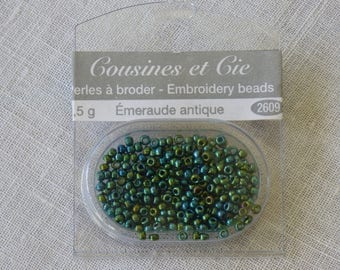 Beads embroidery cousins and Emerald companies antique 2609