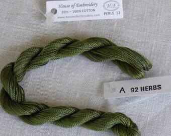 Beaded wire No. 12 HOUSE OF EMBROIDERY collar 92 has HERBS