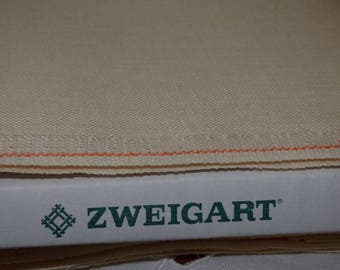 Zweigart 14 Edinburgh son ivory-Ecru collar 222