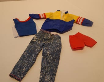 Ken or Like Ken Doll Sport Ensemble Maker Unknown  Lot of 4 pieces