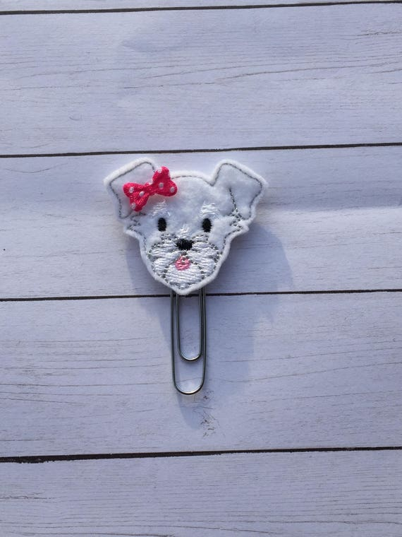 Schnauzer Clip/Planner Clip/Bookmark. Dog Planner Clip. Schnauzer Planner Clip. Puppy Planner Clip. Choose from 2 Colors