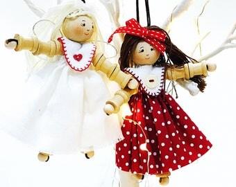 Handcrafted Thread Spool Angel or Doll