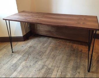 Special offer - American black walnut Dining table and benches. Made to order.