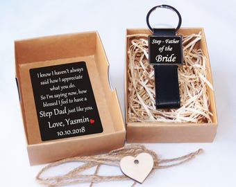 Step father of the bride gift, Step father gift, Step dad gift, Step dad wedding gift, Father's day gift, Step dad keychain, step father