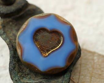 Urban Heart, Heart Beads, Czech Beads, N1886