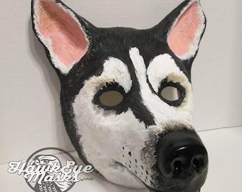 Husky dog costume mask, animal, wolf mask, wolves, masquerade, animal totem, wolf hybrid, costume mask, malamute