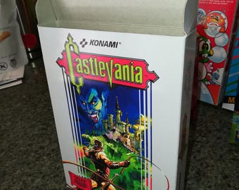 Castlevania NES Nintendo Entertainment System Reproduction Box! Best Repros in the world!