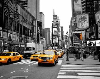Sale of New York Prints Set, Times Square print, New York taxi print, New York Decor, New York gift, New York Art, Colour pop prints, Taxi