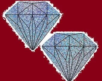 Diamond Wedding Nipple Pasties Cover ~ 1 pair Nipple Covers BOGO  Free
