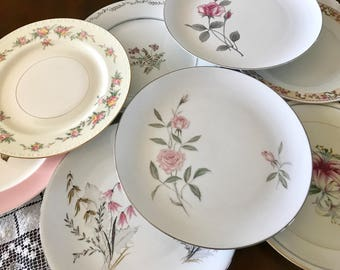 mismatched china dinner plates set of 8 - China Dinner Plates
