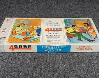 Vintage 1967 4Cyte Word Game The Smart Set Word Game Milton Bradley