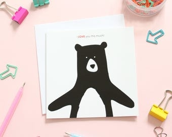 I love you this much, valentines day card, anniversary card