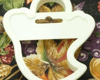 1991 Wilton White Halloween Ghost Plastic Cookie Cutter