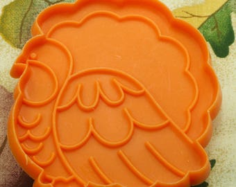 1981 Vintage Hallmark Orange Turkey Plastic Thanksgiving Cookie Cutter