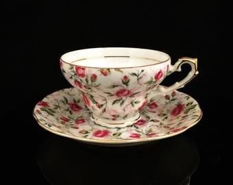 Vintage Lefton Demitasse Cup And Saucer Lefton China Plate Lefton Plate Lefton Cup Lefton Saucer Lefton Teacup Hand Painted Cup Pink Roses
