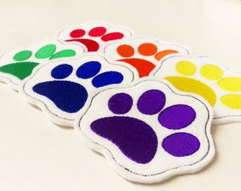 Paw Pride Drink Coasters Cute Adorable Paws Dog Cat Pet Rainbow Pride LGBT Furry