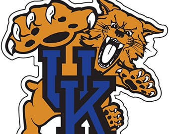 "Kentucky Wildcats 4"" Wildcat  Premium Die-Cut Vinyl Decal, Yeti"