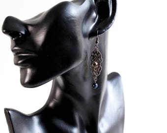 Medieval earrings with Swarovski