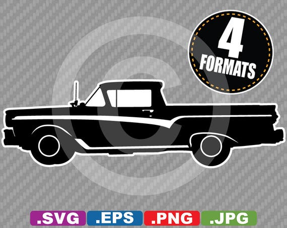1957 Ford Ranchero Clip Art Image   SVG Cutting File Plus Eps (vector),  Jpg, U0026 Png   INSTANT DOWNLOAD   Die Cut Sticker File
