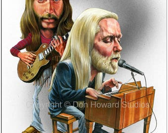 Don Howard's Depiction of The Allman Brothers Celebrity Caricature