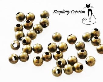 Pearl round brass set of 50