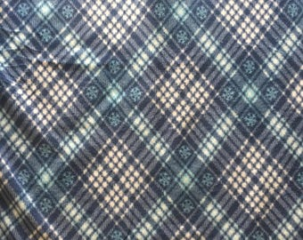 Fleece Blue Plaid Tie Blanket