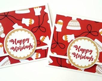 Christmas gift card holder set / christmas gift card holders / christmas gift card holder