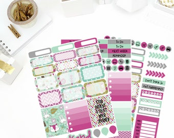 Enchanted Weekly Kit Stickers! Perfect for your Erin Condren Life Planner, calendar, Paper Plum, Filofax!