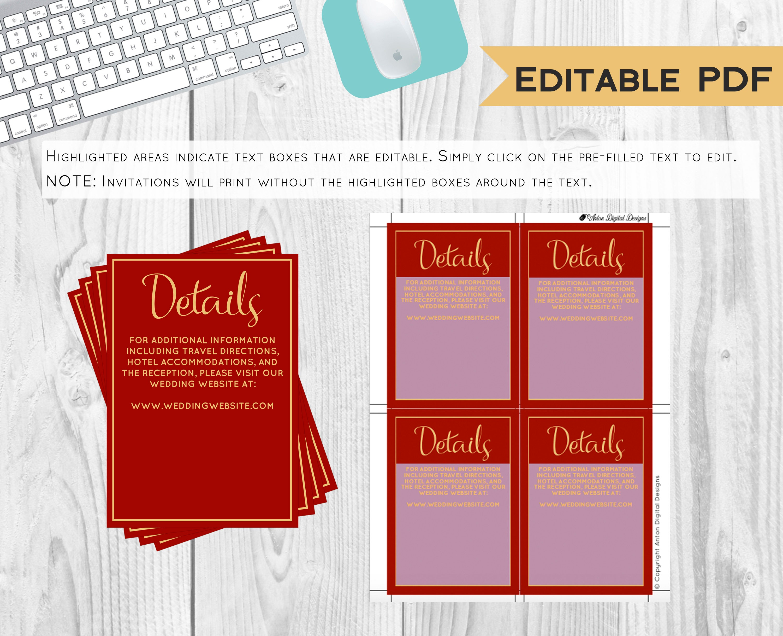 Burgundy Plaid Winter Wedding Invitations - Invitation Kit - PDF ...