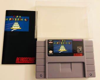 Super Nintendo SNES Greeting Cart gift card holder (birthday) - Retroscribe