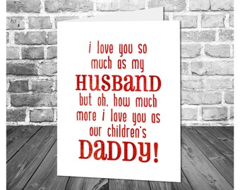 Husband Father's Day Card / I Love You Husband / Card for Husband and Father / Printable Father's Day Greeting Card