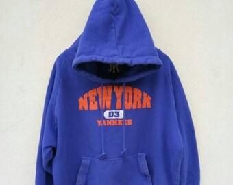 On Sale 20% Off Vintage New York Yankees Hoodie Sweater/Yankees Sweatshirt/Yankees  Baseball Jacket/Swag Hip hop