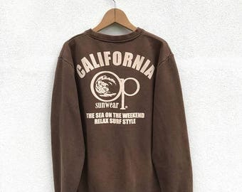 20% OFF Vintage Ocean Pacific Sweatshirt/OP Sweater/Hawaiian Sweatshirt/OP Big Logo/Surfing/Surfboarding