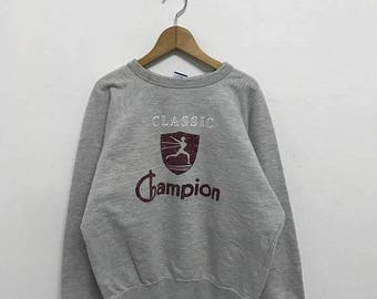 20% OFF Vintage Champion Sweatshirt 90s Champion pullover Champion C Logo Champion Spell Out Champion Big Logo