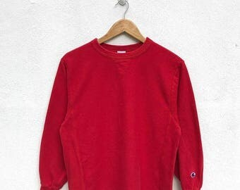 20% OFF Vintage Champion Pullover Sweater Champion Sweatshirt Champion C Logo Champion Red Sweater Streetwear Hip Hop
