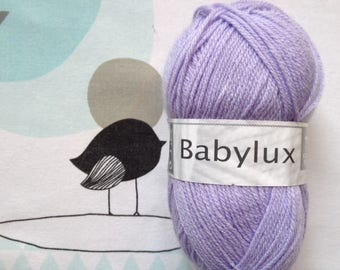 WOOL BABYLUX Lavender - white horse