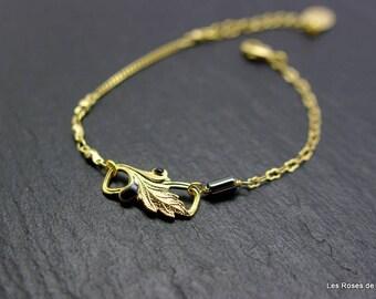 Bracelet art deco leaf